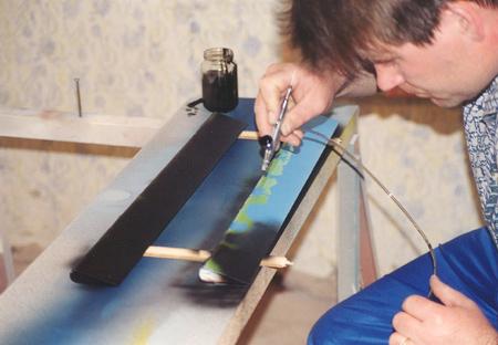 Barvanje eleronov