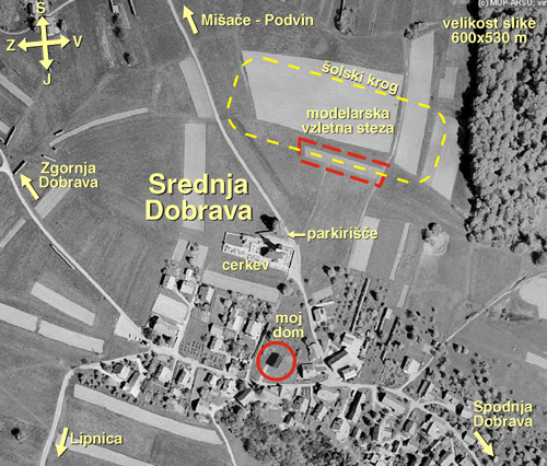 Satelitska slika letališča