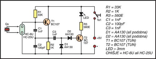 Električna shema testerja