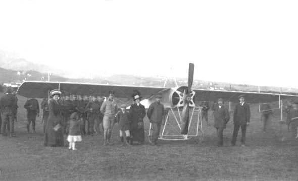 Merćep-Rusjanovo letalo na zagrebškem letališču