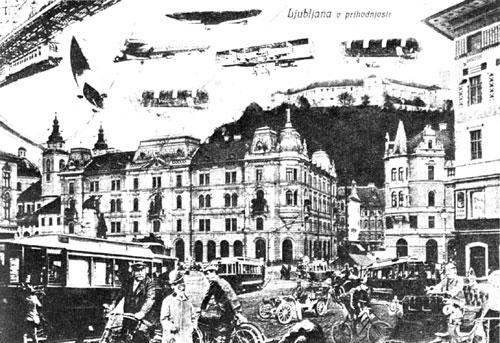 Ljubljana v prihodnosti iz leta 1910
