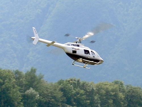 Helikopter v zraku